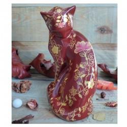 chat porcelaine fleurs du...