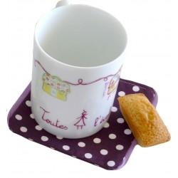 mug porcelaine Toutes à l'école