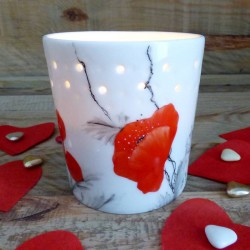 porcelain candle pot -...