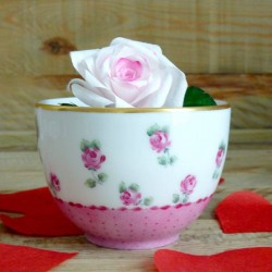 Porcelain tea bowl without...