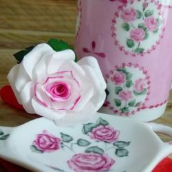 Porcelain tea bag rest...