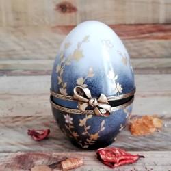 Oeuf porcelaine boite bijoux ou collection