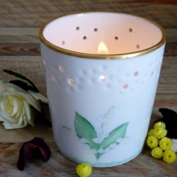 Openwork porcelain candle...