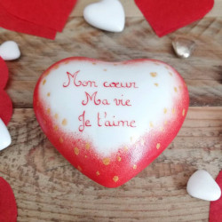 red porcelain heart -...