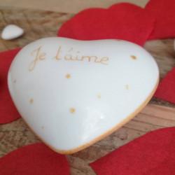 Gold porcelain heart I love...