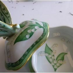 boite bijoux porcelaine muguet et or