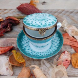 boite porcelaine miniature tasse thé