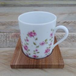 Tasse à café en porcelaine fine décor Liberty Rose