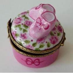 boite naissance porcelaine rose