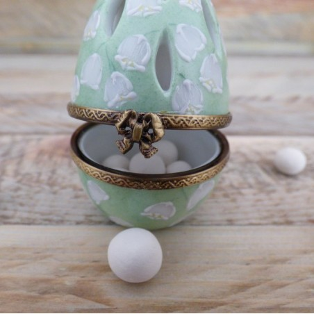 Egg box porcelain lily of the valley Diffuser of perfume