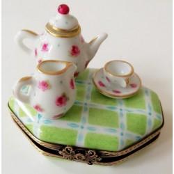boite miniature porcelaine service à thé