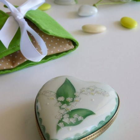 porcelain heart box lily of the valley