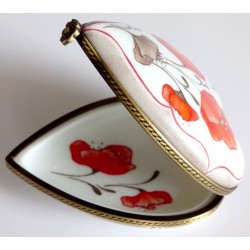 Limoges porcelain heart box...