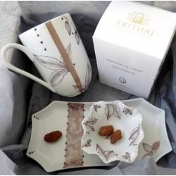 Mug et coupelle porcelaine coffret gourmand