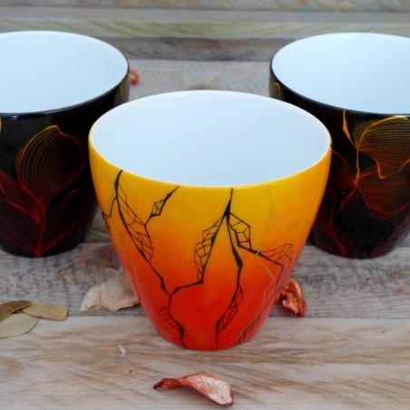 Gobelet porcelaine pot à bougie soleil de nuit