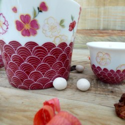 Porcelain candle pot - Red...