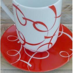 mug porcelaine France rouge passion