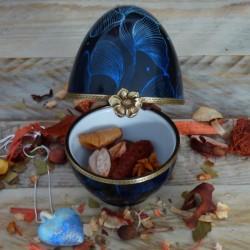 Porcelain egg box blue reverie