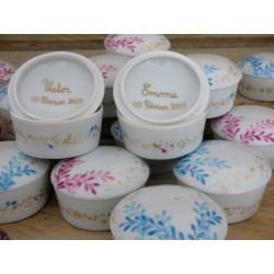 boite porcelaine dragées pour baptême