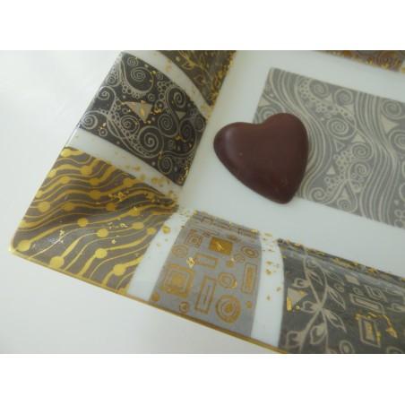 Vide-poches porcelaine France peint à la main or