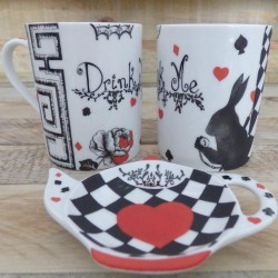 Mug Thé ou Café porcelaine Alice au pays des Merveilles