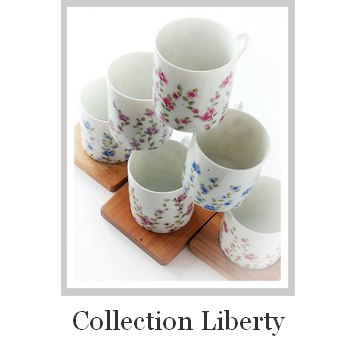 Porcelaine peinte à la main collection Liberty