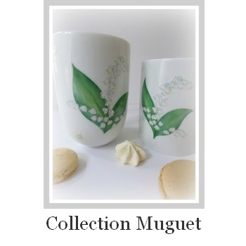 collection porcelaine brin de muguet