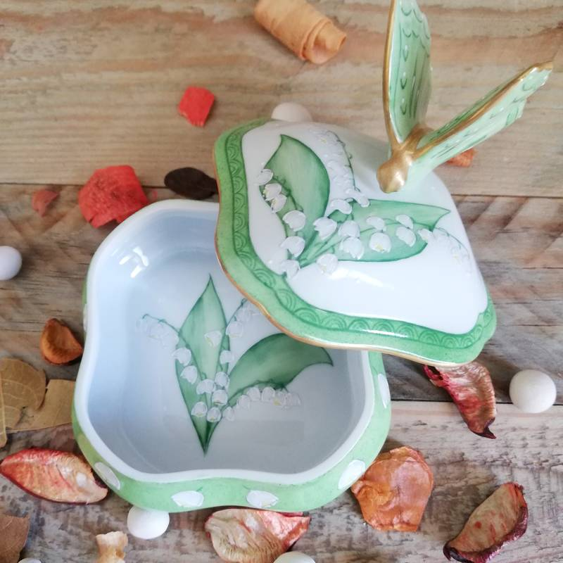 boiteporcelaine limoges decor noces de muguet