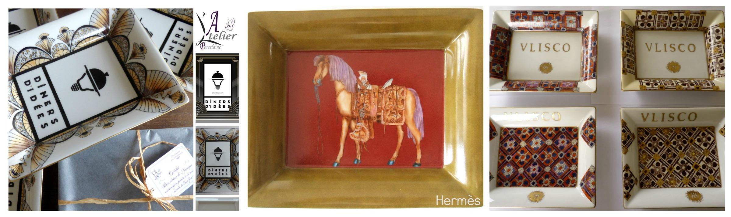 Atelier Porcelaine Des décors sur mesure sur des porcelaine fines de Limoges