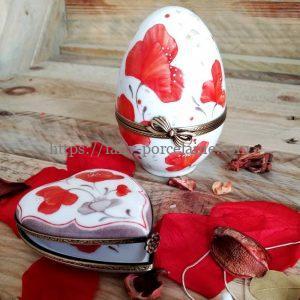 boites porcelaine collection passion coquelicots- 8 ans de mariage