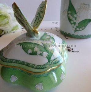boite porcelaine limoges collection muguet porte-bonheur