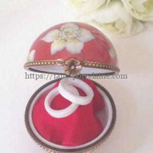 boite ronde porcelaine - boite alliances personnalisée