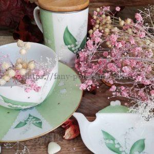 Collection porcelaine brin de bonheur Noces de muguet