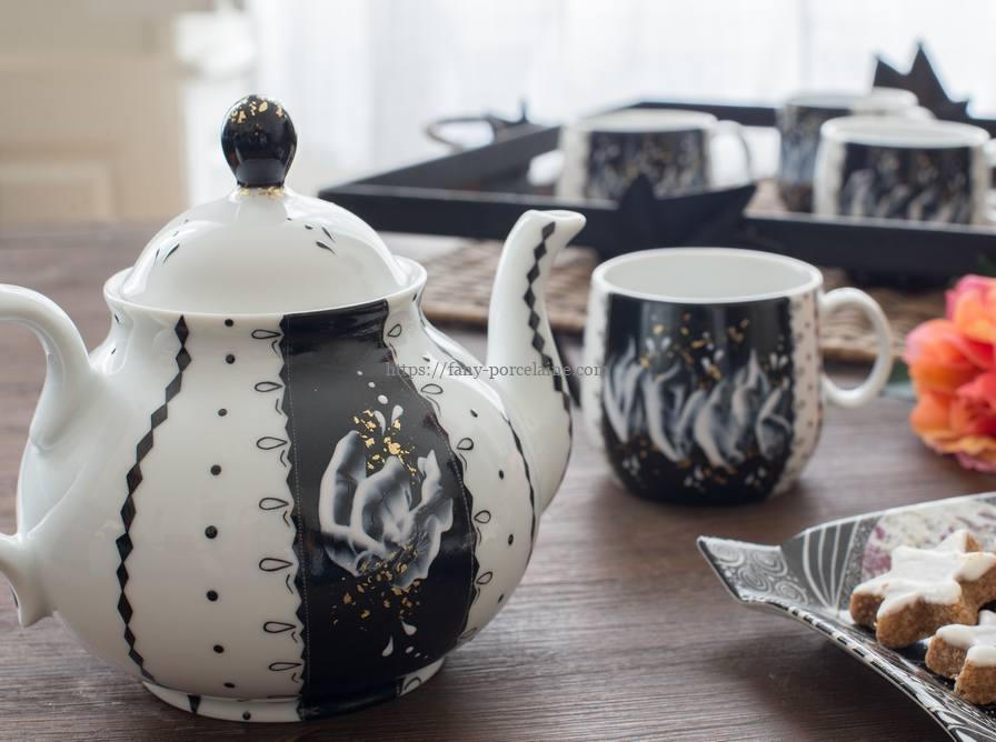 Service thé en porcelaine de Limoges