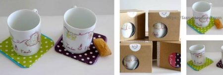 collectin de mugs porcelaine limogs peints pour l'association Toutes à l'école