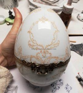 oeuf porcelaine décor main