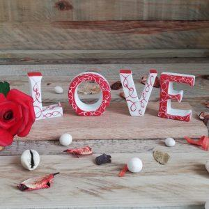 Love lettre cadeau de porcelaine pour vos anniversaire de mariage