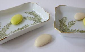 vide-poches porcelaine personnalisé et décor sur mesure pour des cadeaux invités de mariage