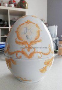 oeuf porcelaine de Limoges