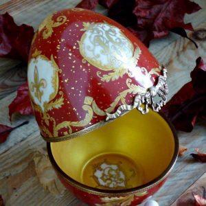 Oeuf porcelaine - Boite objet décoratif - cadeau sur mesure