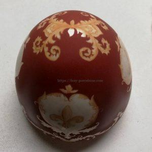 oeuf porcelaine Limoges decor fait main