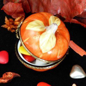 citrouille porcelaine décor halloween